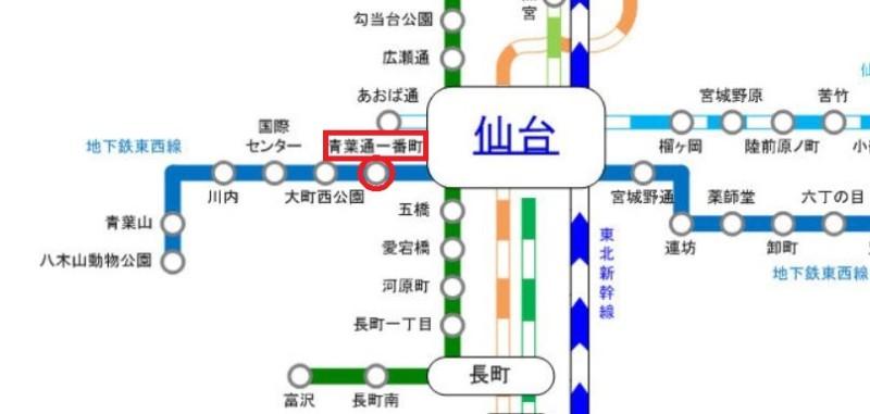 ジェイック仙台の最寄り駅