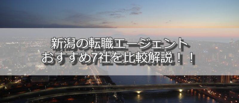 新潟の転職エージェントおすすめ7社を比較解説:失敗しない選び方