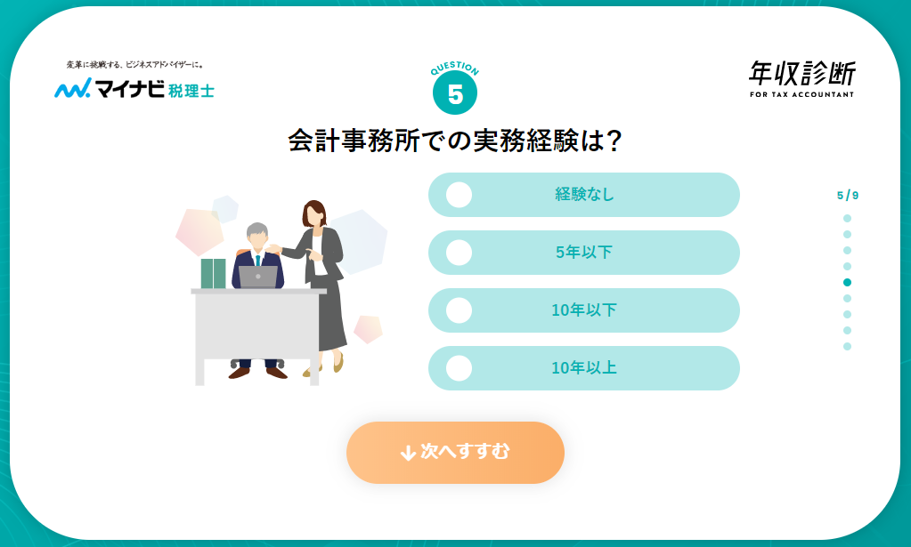 【マイナビ税理士】年収診断6